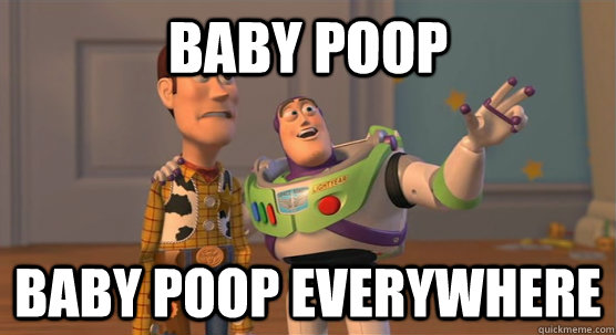 Baby poop everywhere